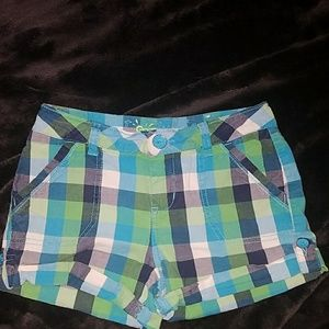 Girls Justice plaid shorts size 10R
